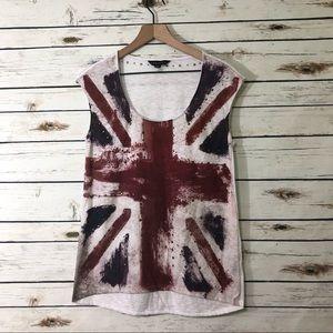 Rock & Republic Union Jack sleeveless / Medium